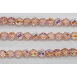 30 perles verre facettes rose clair A/B 6mm