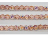 30 perles verre facettes rose clair A/B 8mm