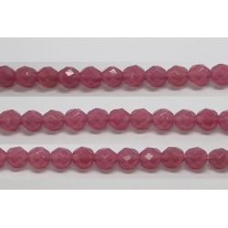 60 perles verre facettes rose opale 3mm