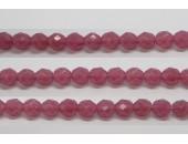 30 perles verre facettes rose opale 6mm