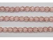 60 perles verre facettes rose 4mm