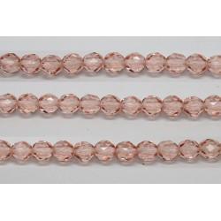 30 perles verre facettes rose 6mm