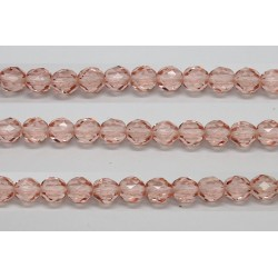 30 perles verre facettes rose 12mm