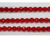 60 perles verre facettes rubis 3mm