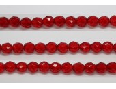 600 perles verre facettes rubis 5mm