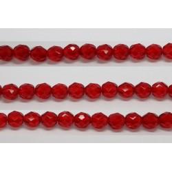 30 perles verre facettes rubis 14mm