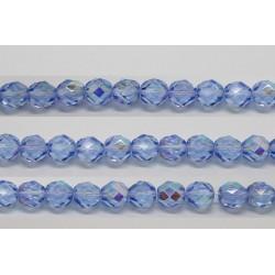 60 perles verre facettes saphir A/B 3mm