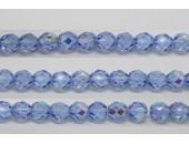 30 perles verre facettes saphir A/B 8mm