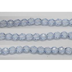 60 perles verre facettes saphir clair 3mm