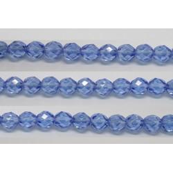 60 perles verre facettes saphir lustre 5mm