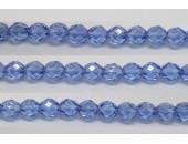 30 perles verre facettes saphir lustre 8mm