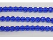 30 perles verre facettes saphir 12mm