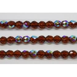 30 perles verre facettes topaze A/B 10mm