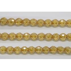 30 perles verre facettes topaze clair lustre 6mm