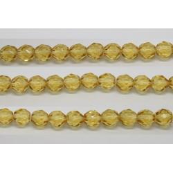 60 perles verre facettes topaze clair 5mm