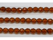 60 perles verre facettes topaze 3mm