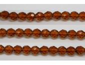 30 perles verre facettes topaze 8mm