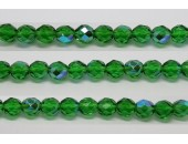 60 perles verre facettes vert A/B 4mm