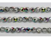60 perles verre facettes vitrail 3mm