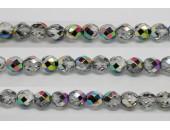60 perles verre facettes vitrail 4mm