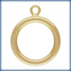 1 Anneaux de fermoir 15mm 1/20 14K Gold Filled