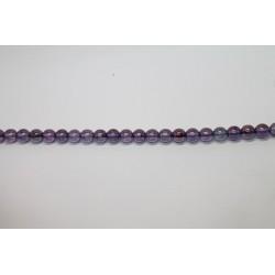 150 perles verre poudre mauve 12mm