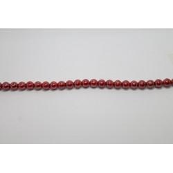 150 perles verre rubis opaque lustre 12mm