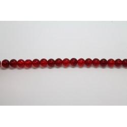 75 perles verre rubis 14mm