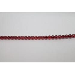1200 perles verre rubis lustre 3mm