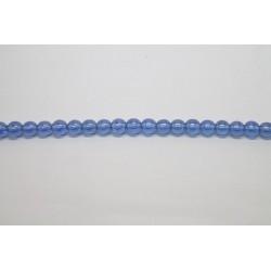 150 perles verre saphir lustre 12mm