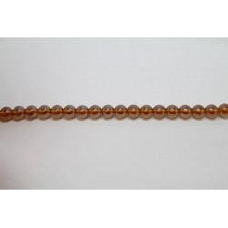 1200 perles verre topaze lustre 4mm