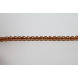 150 perles verre topaze lustre 12mm