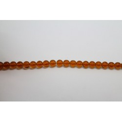 150 perles verre topaze 12mm