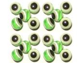 50 Perles Oeil Acrylique Vert clair 16mm