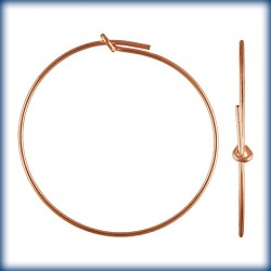 2 Paires Creoles 0.70x30.0mm 1/20 14K Rose Gold Filled
