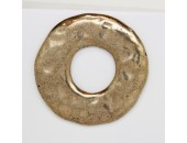 5 Donuts metal doré antique 44x3mm