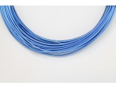 10 Mts Fil Aluminium rond Bleu Roi 1.5mm
