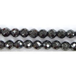 Perles Facettes Hematite 4mm - Fil de 40 Centimetres
