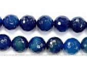 Perles Facettes Agate Bleue 4mm - Fil de 40 Centimetres