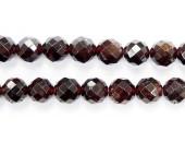 Perles Facettes Grenat 4mm - Fil de 40 Centimetres