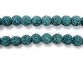 Perle Pierre de Lave Teintée Bleu 10mm