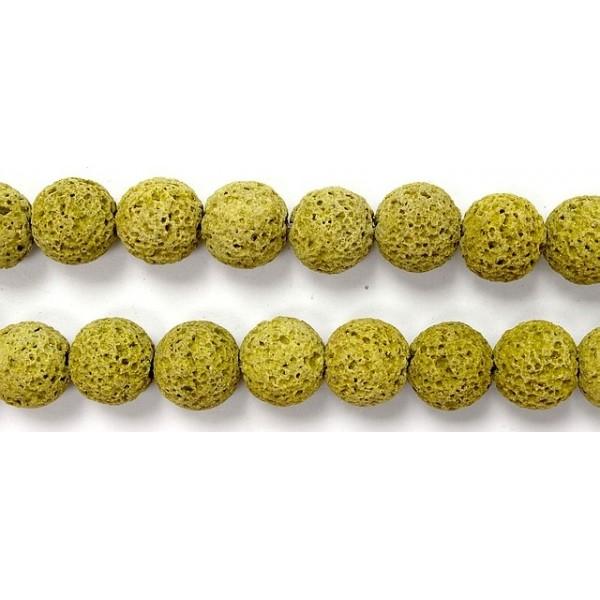 perle pierre de lave teint e jaune 10mm venot fils. Black Bedroom Furniture Sets. Home Design Ideas