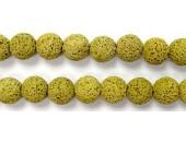 Perle Pierre de Lave Teintée Jaune 12mm