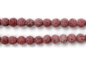 Perle Pierre de Lave Teintée Rose 16mm