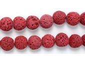 Perle Pierre de Lave Teintée Rouge 10mm