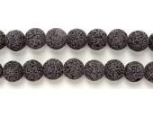 Perle Pierre de Lave Teintée Violet Fonce 10mm